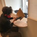 Ulla arbejder med lydfelt